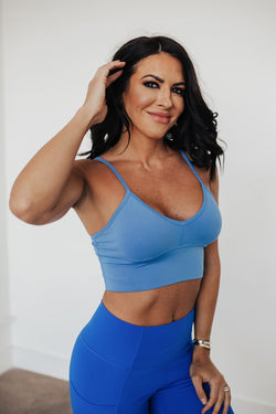 Beyond Basic Sports Bra - Marina Blue