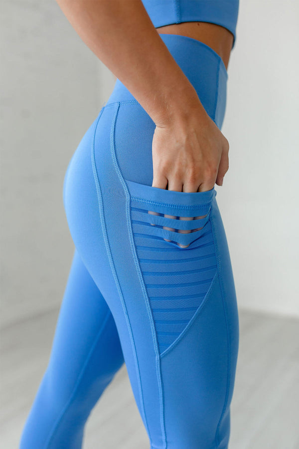 High-Waist Obsession CROP Legging- Marina Blue