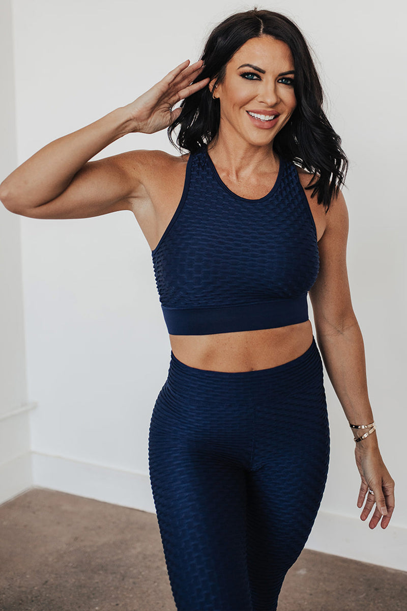 Ideal Cropped Tank-Rich Navy