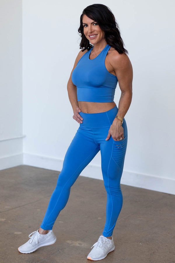 High-Waist Obsession Legging- Marina Blue