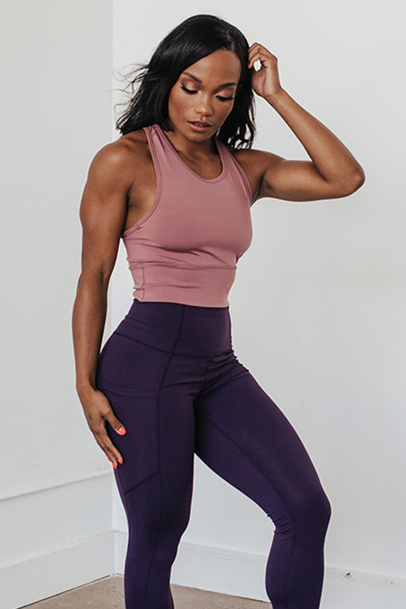 Obsession Racerback Tank- Chocolate Plum