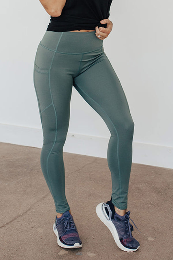 Beyond Basic Legging-Sage