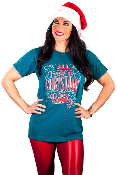 """Booty For Christmas"" Holiday Tee Shirt"
