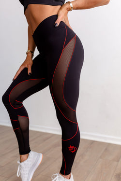 VIXEN Legging-Black/Red