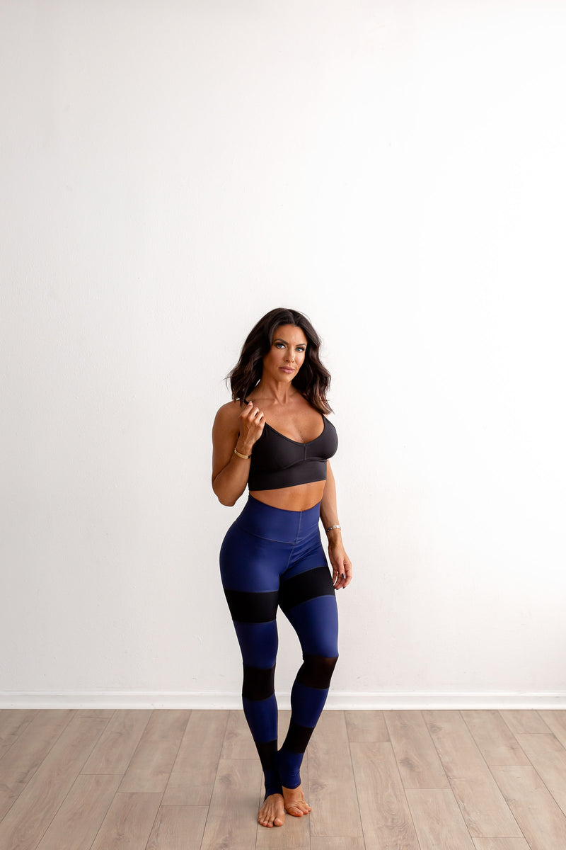 Booty Legging - Rich Navy with Black