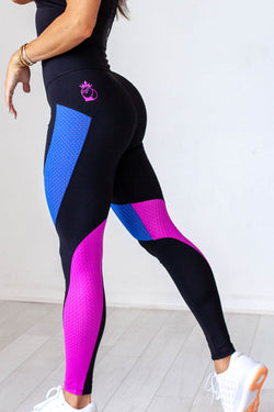 Laser Cut Legging - Blue Razz