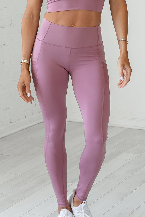 High-Waist Obsession Legging- Chocolate Plum