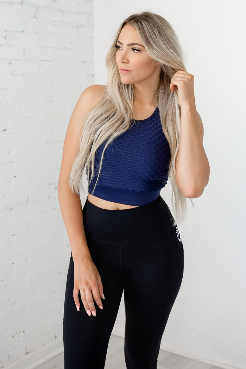 Hi-Low Pocket Legging - Sleek Black