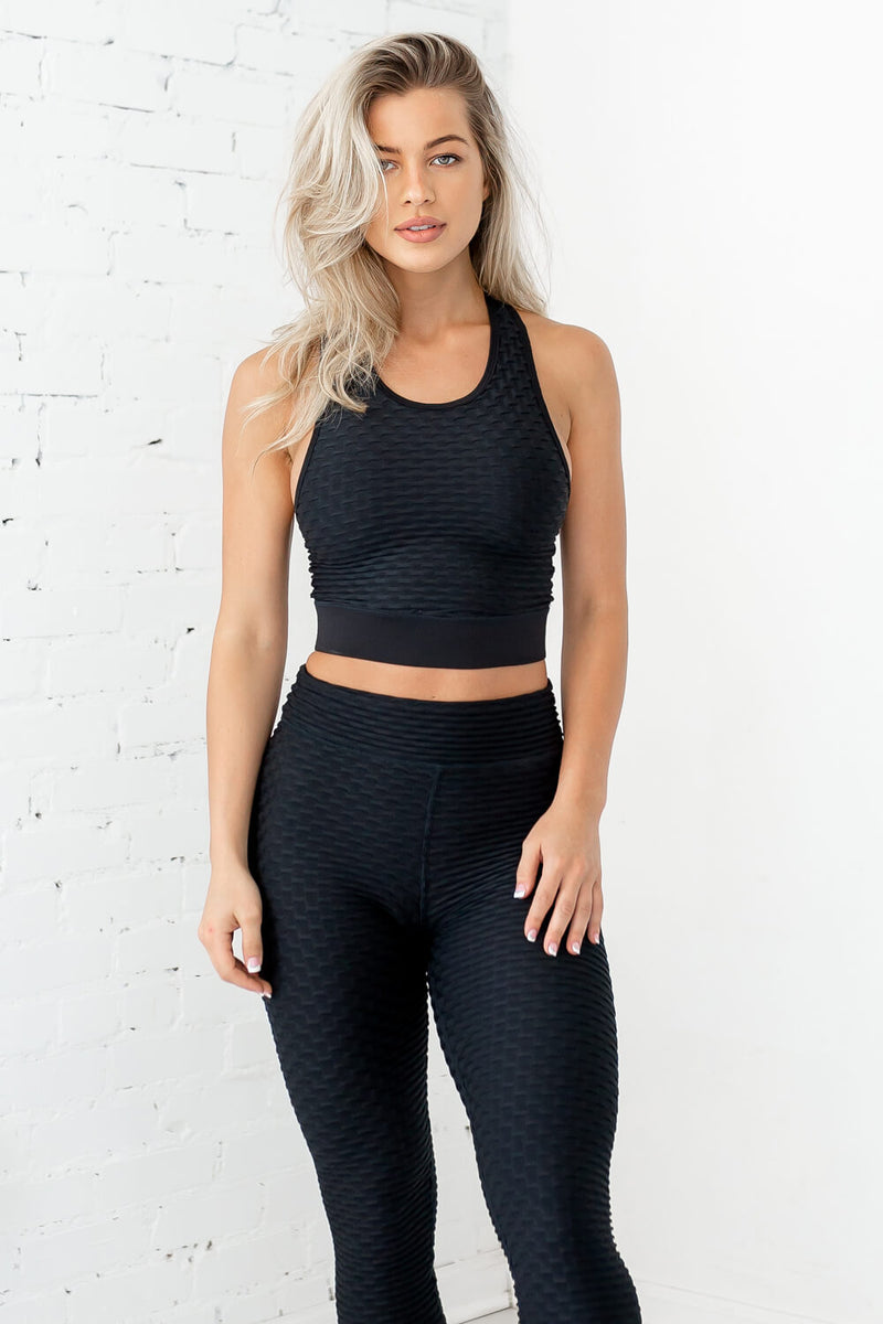 Ideal Cropped Tank-Sleek Black