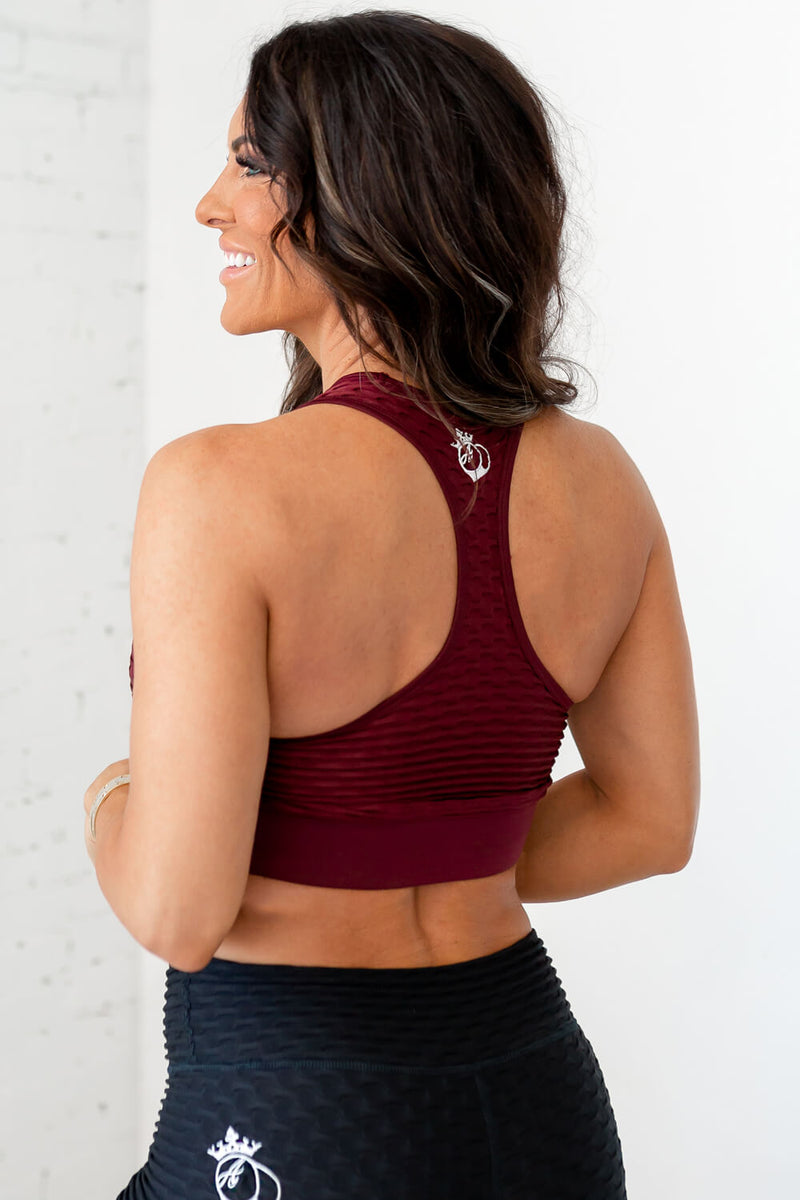 Ideal Cropped Tank-Tawny Port