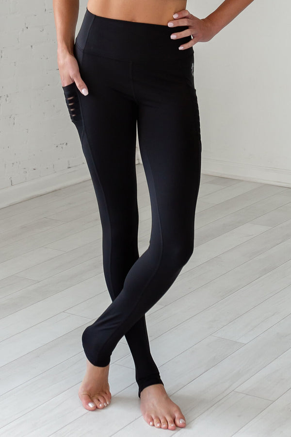"High-Waist Obsession ""Over The Heel"" Legging- Black"