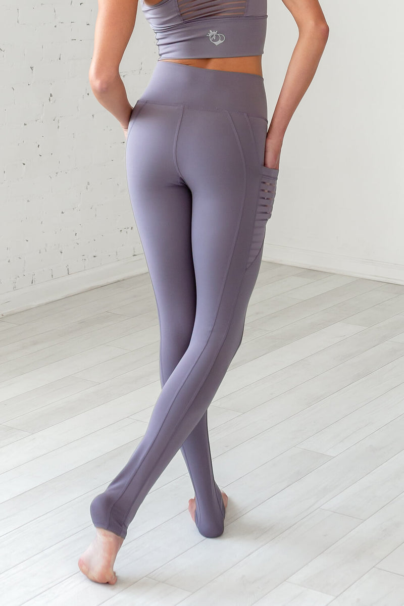 "High-Waist Obsession ""Over The Heel"" Legging- Grey Mauve"