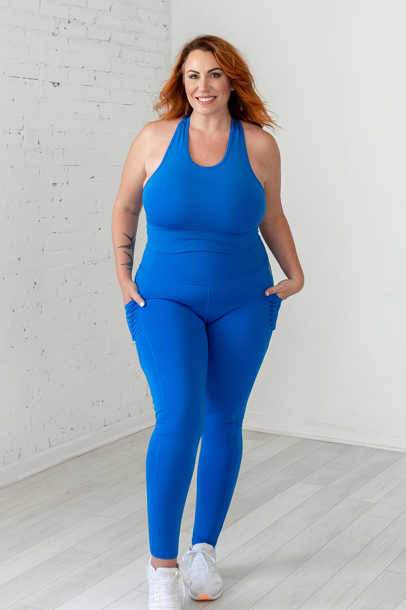 High-Waist Obsession Legging- Princess Blue