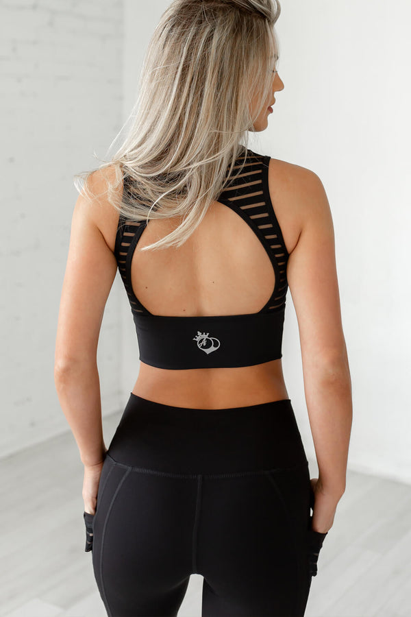 Obsession Open Back Tank- Black