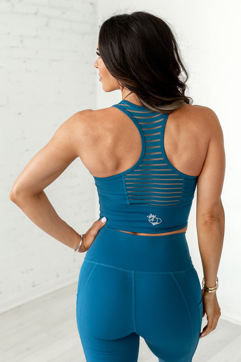 Obsession Racerback Tank- Eclipse Blue