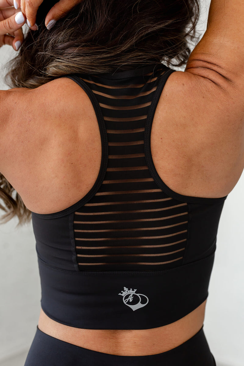 Obsession Racerback Tank- Black