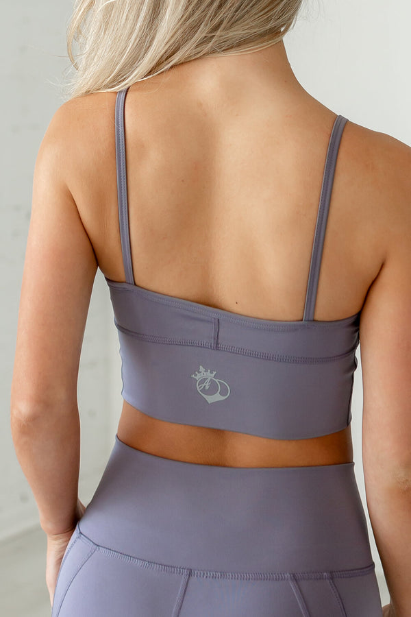 Beyond Basic Sports Bra - Grey Mauve