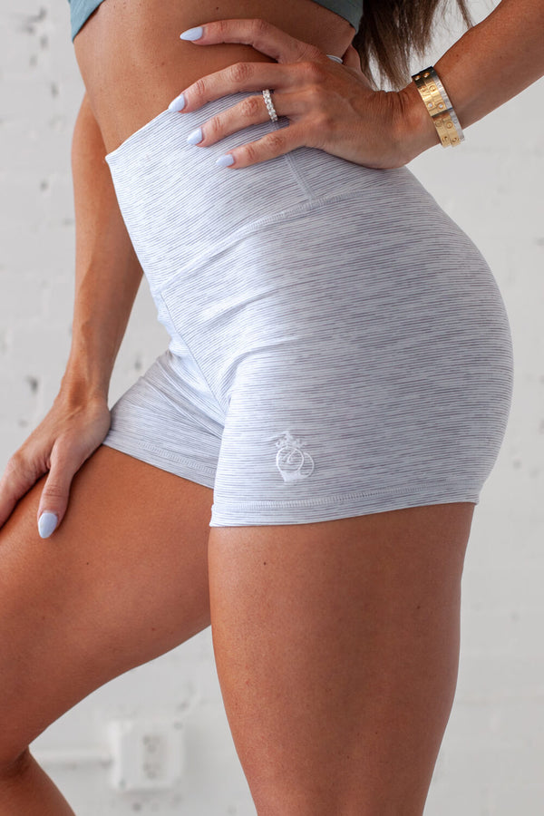 Hi-Low Shorts - White Stripe