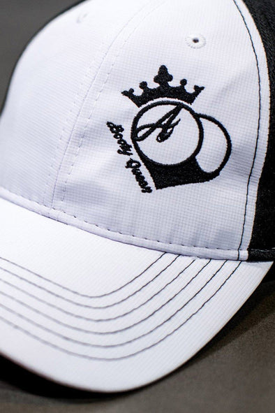 Hats - BootyQueen™ Athletic Mesh White & Black Hat