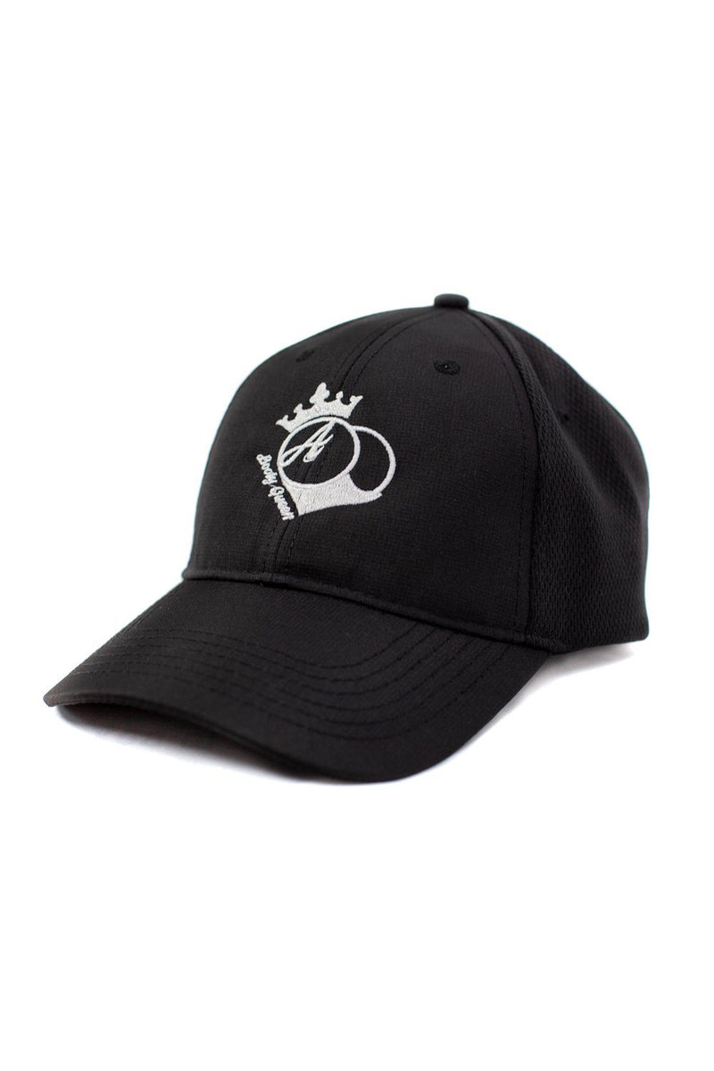 Hats - BootyQueen™ Black Athletic Mesh Back Hat- White Logo