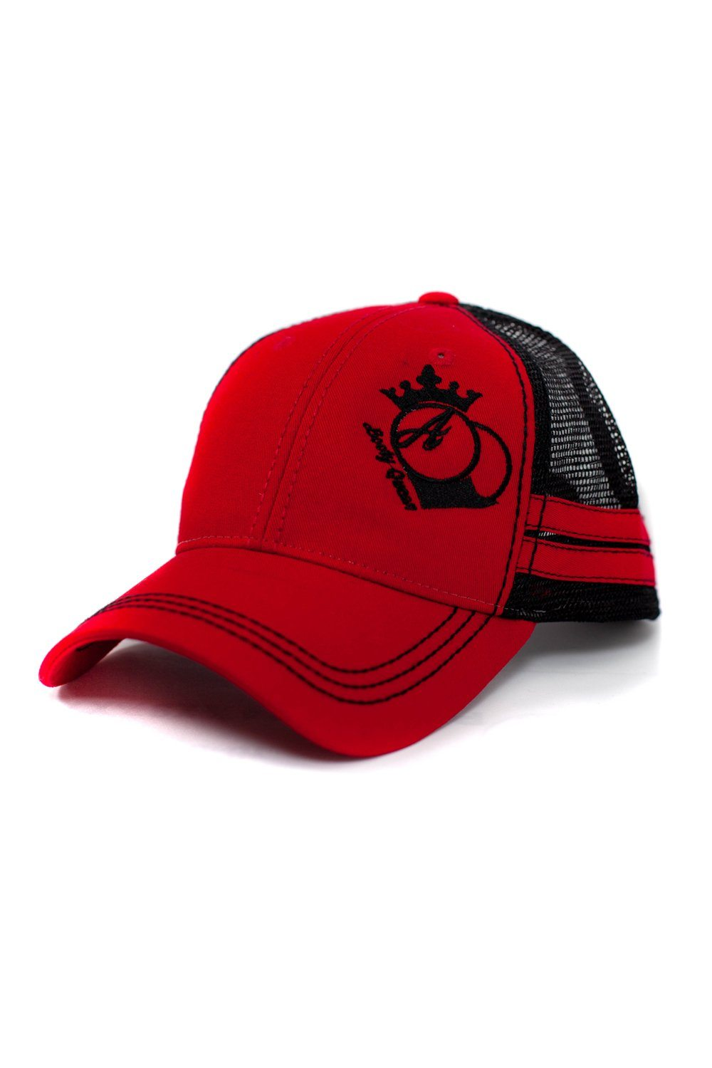 Red Trucker Hat with Stripes – BootyQueen Apparel Store 1e67185664e