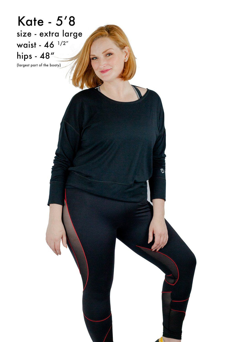 Leggings - Bootyqueen VIXEN Legging-Black/Red