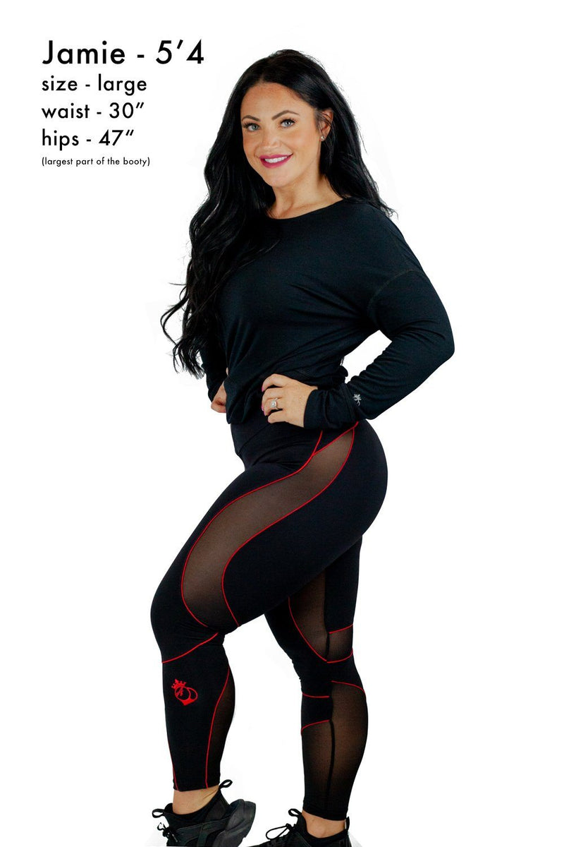 Leggings - Bootyqueen VIXEN Legging-Black/White