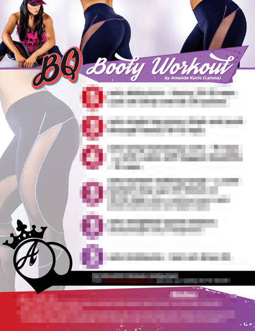 PDF Workouts - BQ Booty Workout Exclusive Workout PDF