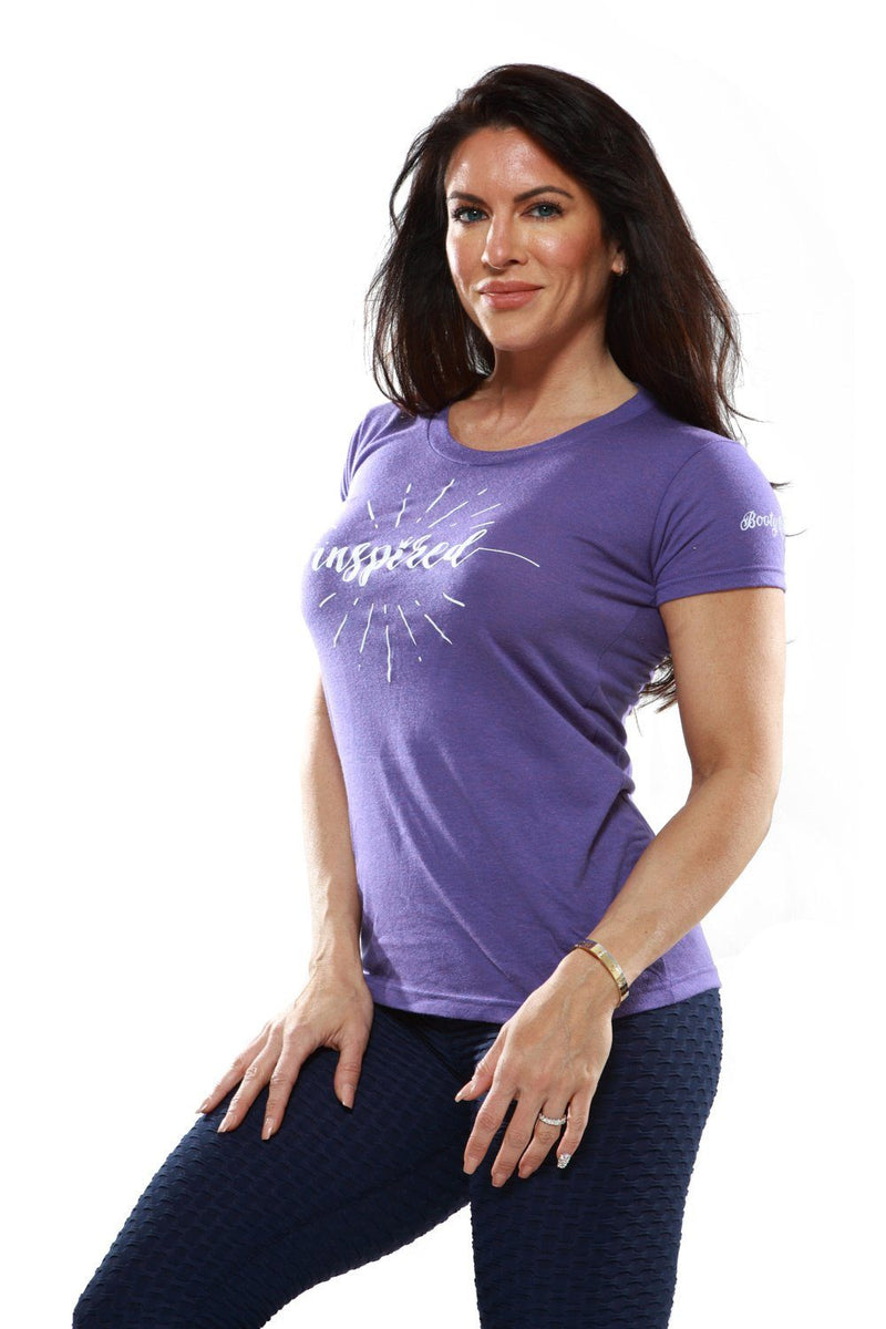 Shirts - Bootyqueen 'Inspired' Tee-Heathered Purple