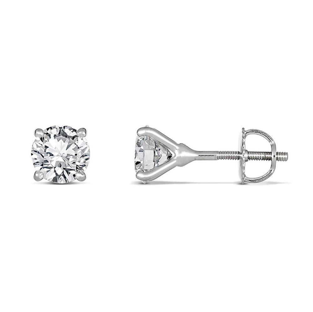 4-Claw Round Brilliant Diamond Studs