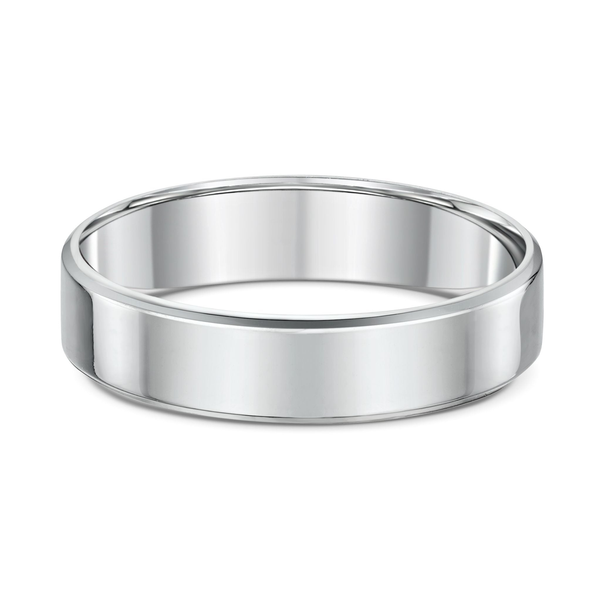 Bevel Edge Wedding Band