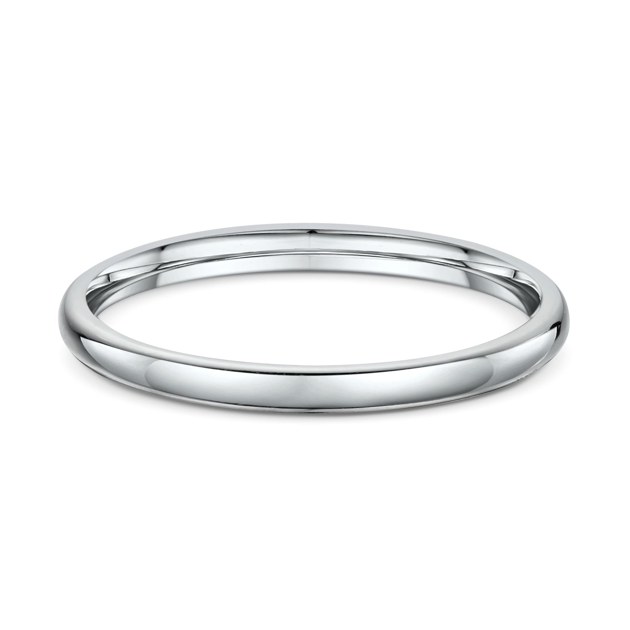 High Half Round 2mm Wedding Band