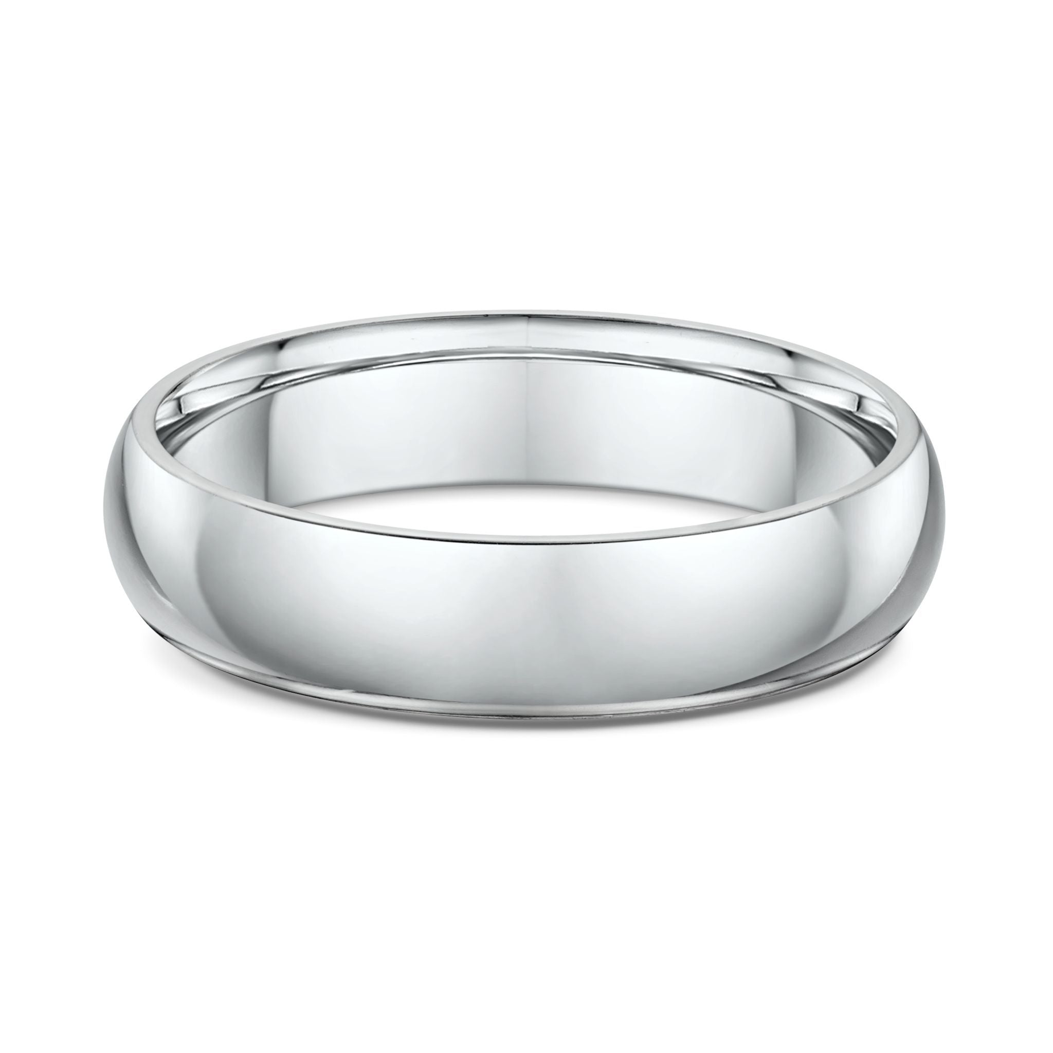 Low Half Round 5mm Wedding Band