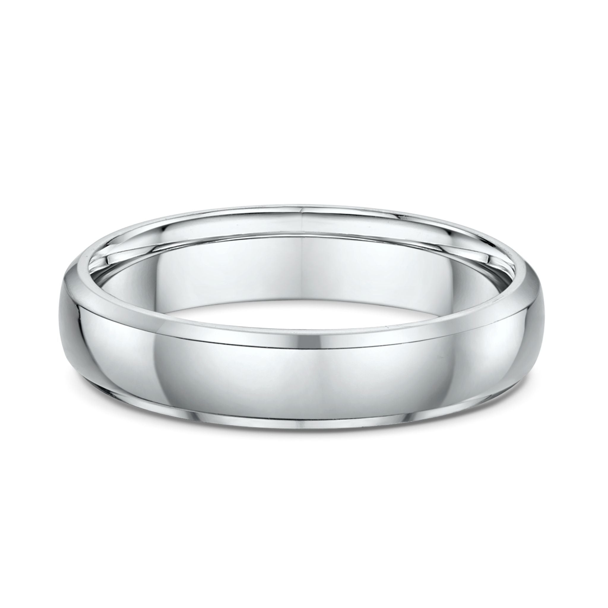Bevel Edge Half Round 5mm Wedding Band
