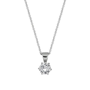 6-claw Solitaire Diamond Pendant