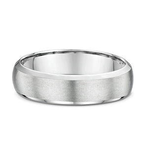 Bevel Edge Half Round Textured Finish Wedding Band