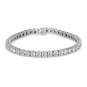 Fine Round Brilliant Diamond Tennis Bracelet