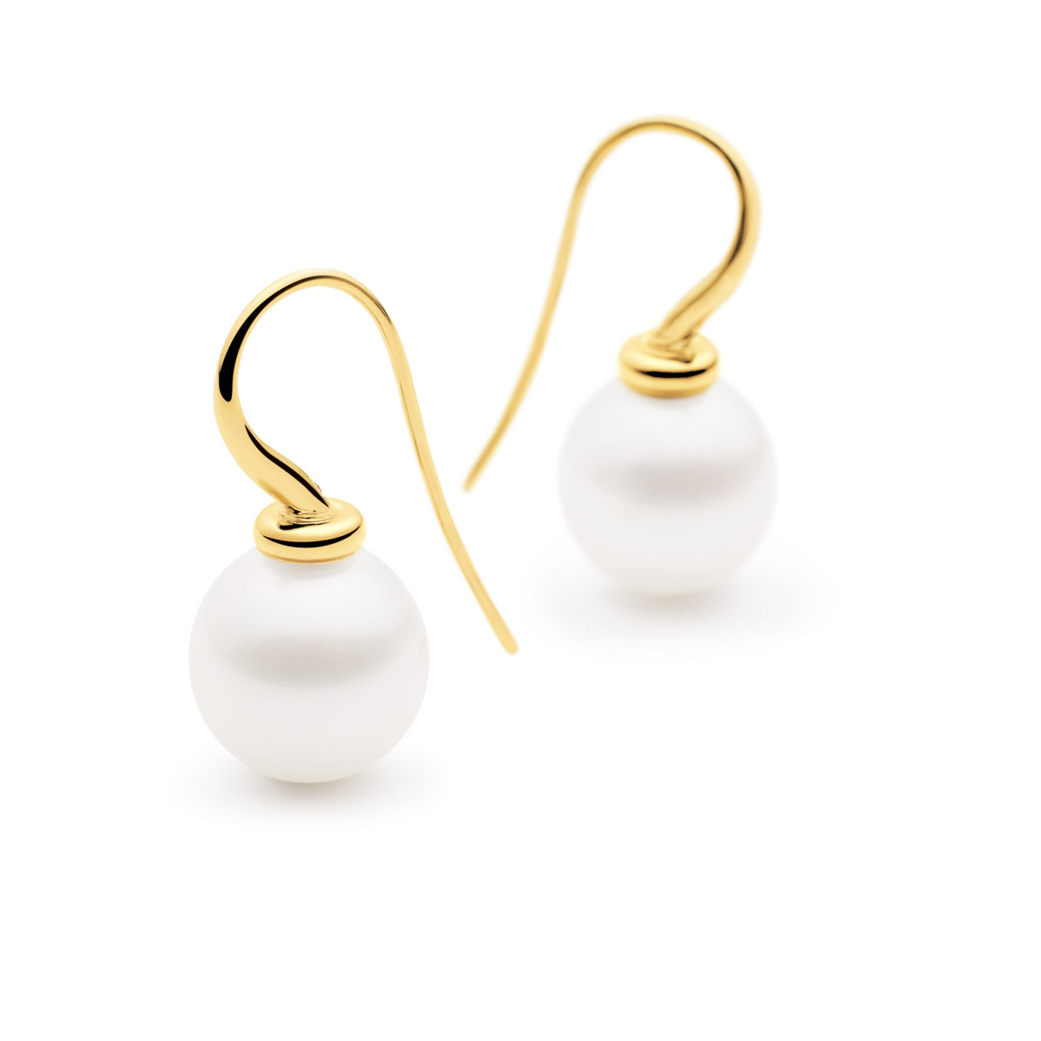Kailis Jewellery - Shimmer Tranquility French Hook Earrings - Yellow Gold