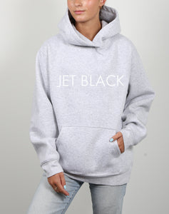 JET BLACK Classic Hoodie in Pebble Grey