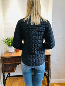 Quilted Cropped TNF Jacket