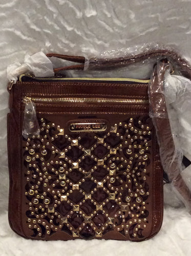 Nicole Lee Brown Crossbody Handbag