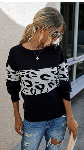 Lightweight Leopard Sweater