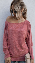 Load image into Gallery viewer, Long Sleeve Boat Neckline Top