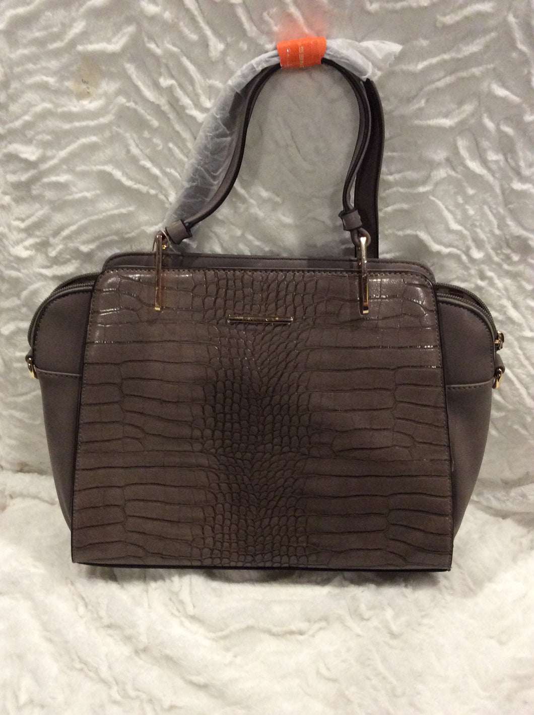 Taupe Leather Styled Handbag