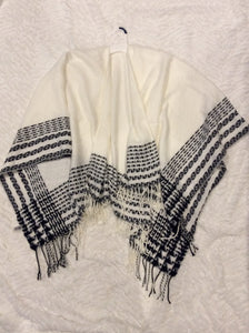 White and Black Wrap