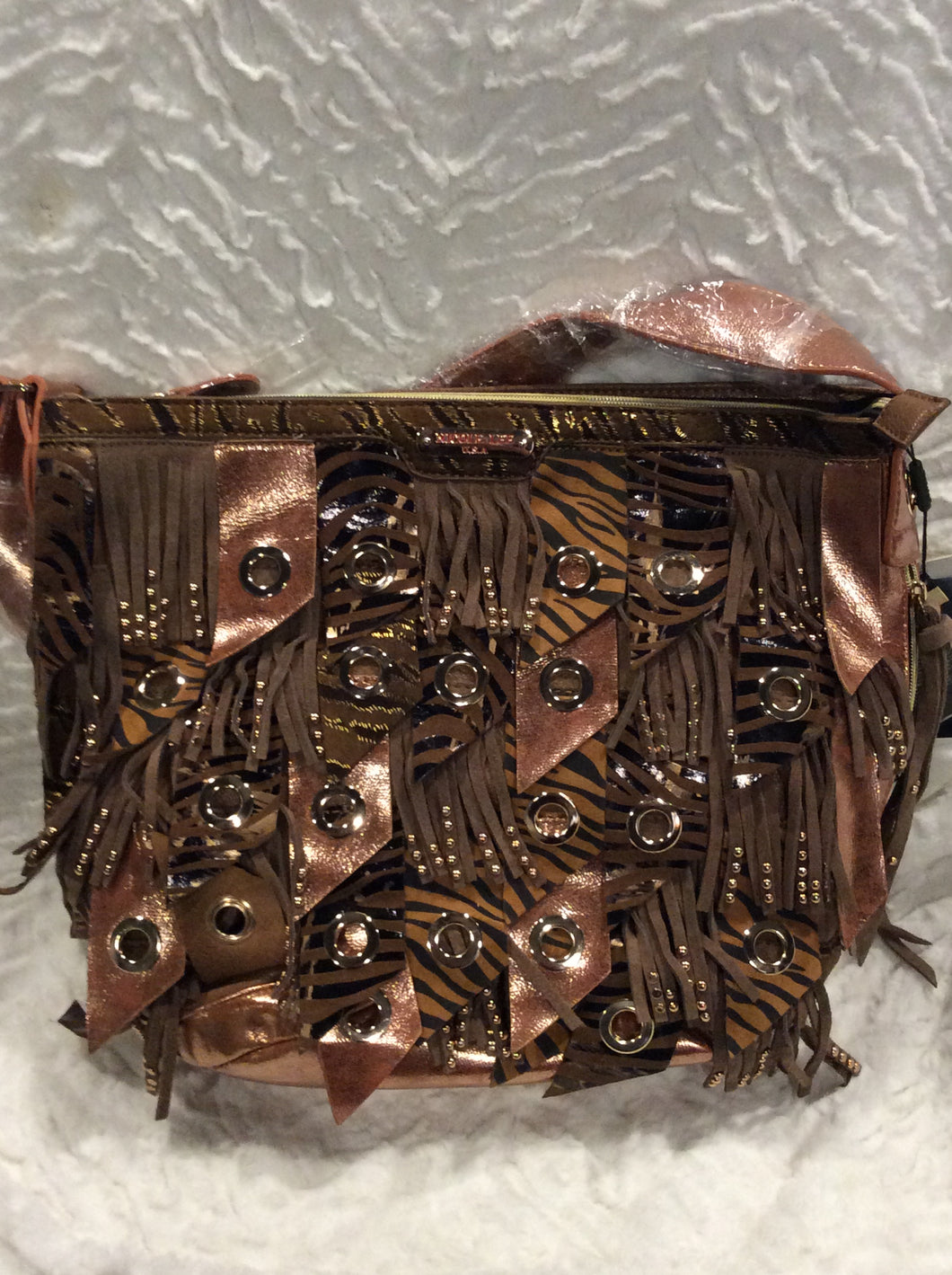 Nicole Lee Animal Print Handbag