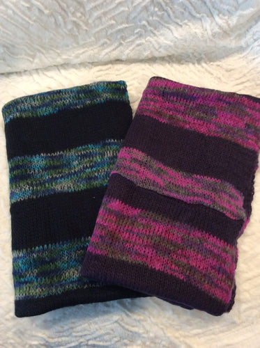 Striped Sweater Infinity Scarve
