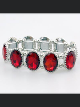 Load image into Gallery viewer, Ruby Oval Rhinestone Bracelet