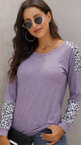 Leopard Knitted Sweater Top