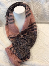 Load image into Gallery viewer, Pink Stripe Infinity Scarf